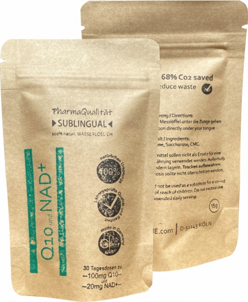 Q10 plus NAD+ granulate - Refill pack